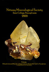 yellow dogtooth calcite poster